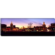 Buildings in a City, Country Club Plaza, Kansas City, Jackson County, Missouri Canvas Wall Art
