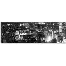 <strong>iCanvasArt</strong> Aerial View of a City at Night, Midtown Manhattan, Manhattan, New York City Canvas Wall Art