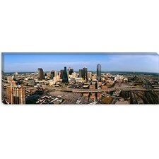 <strong>iCanvasArt</strong> Aerial View of a City, Dallas, Texas Canvas Wall Art