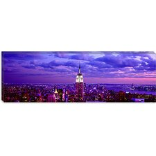 <strong>iCanvasArt</strong> Aerial view of a Midtown Manhattan from Rockefeller Center, New York City Canvas Wall Art