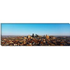 Aerial View of a Cityscape, Kansas City, Missouri Canvas Wall Art