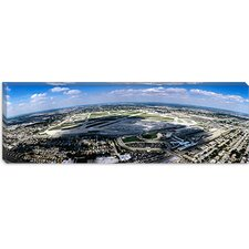 <strong>iCanvasArt</strong> Aerial View of an Airport, Midway Airport, Chicago, Illinois Canvas Wall Art