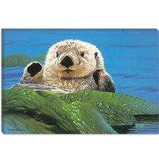 "<strong>iCanvasArt</strong> ""Afternoon Swim"" Canvas Wall Art by John Natito"
