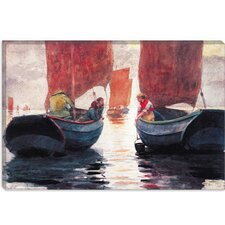 """Afterglow 1883"" Canvas Wall Art by Winslow Homer"