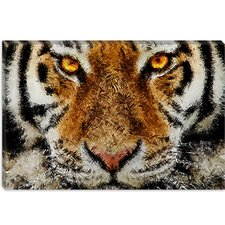 "<strong>iCanvasArt</strong> ""Animal Art - Tiger"" Canvas Wall Art by Maximilian San"
