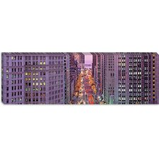 Aerial View of an Urban Street in Michigan Avenue, Illinois Canvas Wall Art