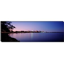 Buildings Along a Lake, Lake Monona, Madison, Wisconsin Canvas Wall Art