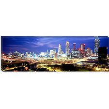 Buildings Lit up at Dusk, Atlanta, Georgia Canvas Wall Art