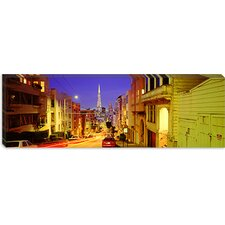 <strong>iCanvasArt</strong> Evening in San Francisco, San Francisco, California Canvas Wall Art