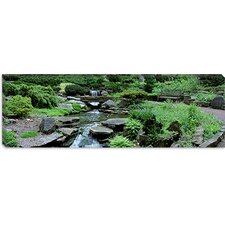 <strong>iCanvasArt</strong> River Flowing Through a Forest, Inniswood Metro Gardens, Columbus, Ohio Canvas Wall Art