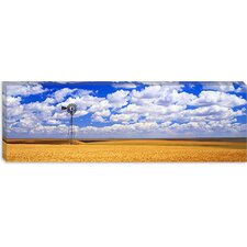 <strong>iCanvasArt</strong> Windmill Wheat Field, Othello, Washington State Canvas Wall Art