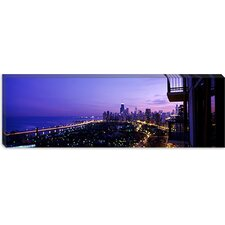 <strong>iCanvasArt</strong> Lake Michigan, Chicago, Cook County, Illinois Canvas Wall Art