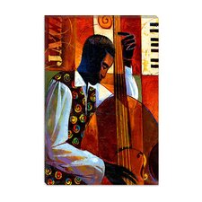 "<strong>iCanvasArt</strong> ""Jazz"" Canvas Wall Art by Keith Mallett"