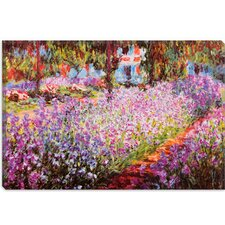 """Jardin De Giverny"" Canvas Wall Art by Claude Monet"