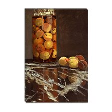 """Jar of Peaches (Das Pfirsichglas)"" Canvas Wall Art by Claude Monet"