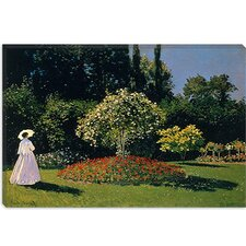 """Jeanne-Marguerite Lecadre (Woman) in The Garden"" Canvas Wall Art by Claude Monet"