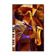 "<strong>iCanvasArt</strong> ""Jammin"" Canvas Wall Art by Keith Mallett"