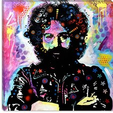 "<strong>iCanvasArt</strong> ""Jerry Garcia"" Canvas Wall Art by Dean Russo"