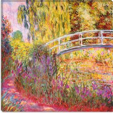 """Japanese Bridge, Pond with Water Lilies"" Canvas Wall Art by Claude Monet"