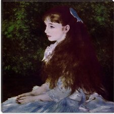"""Girl with a Blue Ribbon"" Canvas Wall Art by Auguste Renoir"