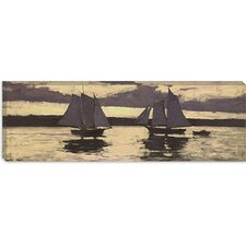 """Gloucester, Mackerel Fleet at Sunset"" Canvas Wall Art by Winslow Homer"