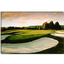 "<strong>iCanvasArt</strong> ""Golf Course 8"" Canvas Wall Art by William Vanderdasson"
