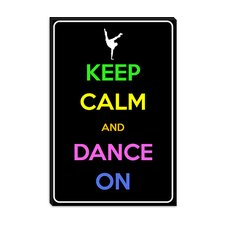 <strong>iCanvasArt</strong> Keep Calm and Dance on Canvas Wall Art