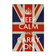 <strong>iCanvasArt</strong> Keep Calm and Carry on (British Flag) Canvas Wall Art