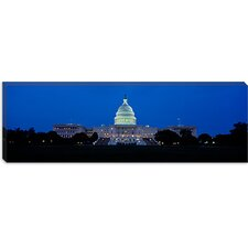 <strong>iCanvasArt</strong> Capitol Building, Washington DC Canvas Wall Art