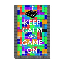 <strong>iCanvasArt</strong> Keep Calm and Game on Canvas Wall Art