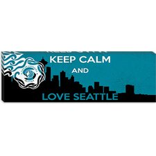 <strong>iCanvasArt</strong> Keep Calm and Love Seattle Canvas Wall Art