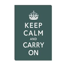 <strong>iCanvasArt</strong> Keep Calm and Carry on Canvas Wall Art