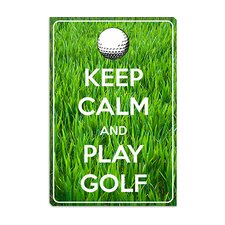 <strong>iCanvasArt</strong> Keep Calm and Play Golf Canvas Wall Art