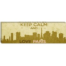 <strong>iCanvasArt</strong> Keep Calm and Love Paris Canvas Wall Art
