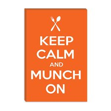 <strong>iCanvasArt</strong> Keep Calm and Munch on Canvas Wall Art