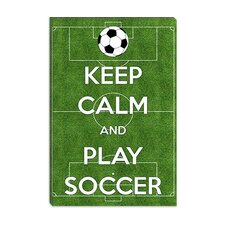 <strong>iCanvasArt</strong> Keep Calm and Play Soccer Canvas Wall Art