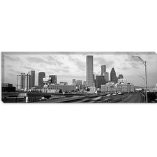 <strong>iCanvasArt</strong> Houston Panoramic Skyline Cityscape (Sunset) Canvas Wall Art