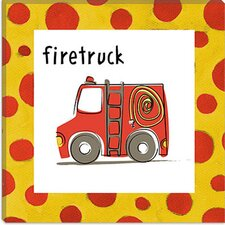 <strong>iCanvasArt</strong> Firetruck from Esteban Studio  Canvas Wall Art