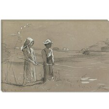 "<strong>iCanvasArt</strong> ""Fishing in the Pond 1878"" Canvas Wall Art by Winslow Homer"