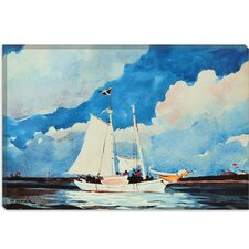 "<strong>iCanvasArt</strong> ""Fishing Schooner, Nassau"" Canvas Wall Art by Winslow Homer"