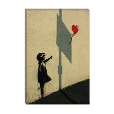 <strong>iCanvasArt</strong> Hopeful Balloon Girl Canvas Wall Art