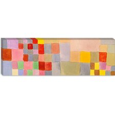 """Flora on the Sand"" Panoramic Canvas Wall Art by Paul Klee"