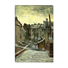 """Houses Seen from the Back"" Canvas Wall Art by Vincent Van Gogh"