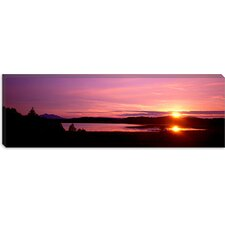 <strong>iCanvasArt</strong> Germany, Forggen Lake at Sunset Canvas Wall Art
