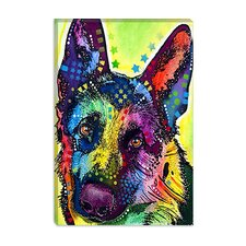 "<strong>iCanvasArt</strong> ""German Shepherd"" Canvas Wall Art by Dean Russo"