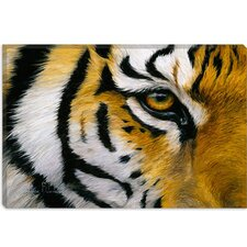"<strong>iCanvasArt</strong> ""Eye of the Tiger"" Canvas Wall Art by Lucie Bilodeau"