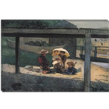 """In Charge of Baby 1873"" Canvas Wall Art by Winslow Homer"