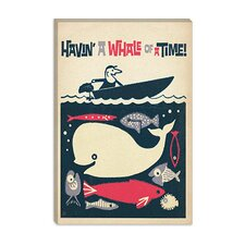"<strong>iCanvasArt</strong> ""Havin"" a Whale of a Time"" Canvas Wall Art"