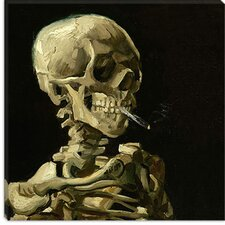 "<strong>iCanvasArt</strong> ""Head of a Skeleton with a Burning Cigarette"" Canvas Wall Art by Vincent Van Gogh"