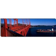 <strong>iCanvasArt</strong> Golden Gate Bridge and San Francisco Bay, San Francisco, California Canvas Wall Art